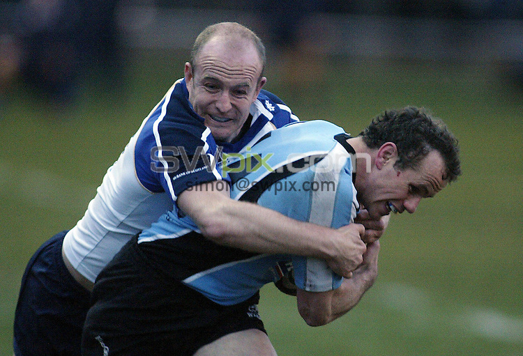 PICTURE BY VAUGHN RIDLEY/SWPIX.COM -  Rugby Union - Magners League - Glasgow v Leinster - Hughenden, Glasgow, Scotland - 06/04/07...Copyright - Simon Wilkinson - 07811 267706...Glasgow's Hefin O'Hare and Leinster's Denis Hickie.