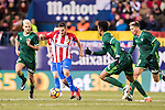Jorge Resurreccion Merodio 'Koke' (c) of Atletico de Madrid in action during their La Liga 2016-17 match between Atletico de Madrid vs Real Betis Balompie at the Vicente Calderon Stadium on 14 January 2017 in Madrid, Spain. Photo by Diego Gonzalez Souto / Power Sport Images