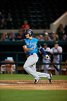 Tampa Tarpons shortstop Diego Castillo (2) at bat during a Florida State League game against the Lakeland Flying Tigers on April 5, 2019 at Publix Field at Joker Marchant Stadium in Lakeland, Florida.  Lakeland defeated Tampa 5-3.  (Mike Janes/Four Seam Images)