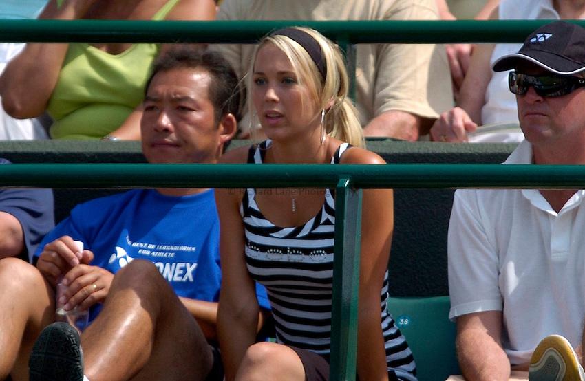 Photo: Richard Lane..Wimbledon Championships. 03/07/2006. .Leyton Hewitt's wife, Rebecca Cartwright.