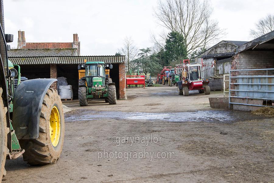 Farm yard in Norfo;k - March