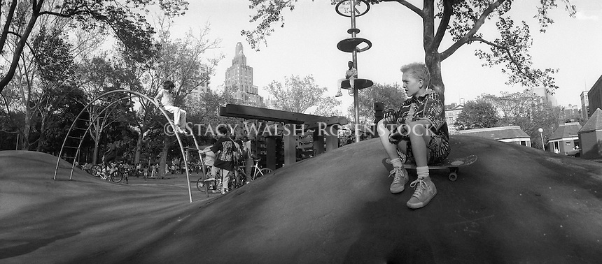 New York, NY Circa 1987 - The Hills in Washington Square Park