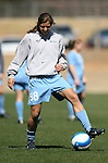 North Carolina's Tobin Heath on Saturday, March 3rd, 2007 on Field 1 at SAS Soccer Park in Cary, North Carolina. The Duke University Blue Devils played the University of North Carolina Tarheels in an NCAA Division I Women's Soccer spring game.