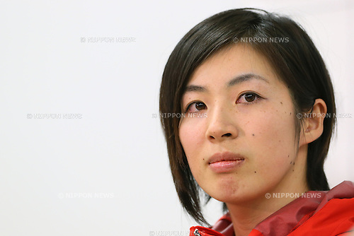 Miki Ito (JPN), DECEMBER 16, 2013 - Moguls : Japanese Mogul skier Miki Ito speaks during a news conference at National Training Center, Tokyo, Japan. Ito said she aims to participate in the Sochi Olympic Games after recover from injuries to her right knee. (Photo by Yusuke Nakanishi/AFLO SPORT)