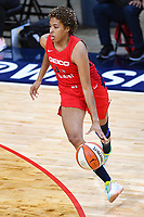 Washington, DC - Sept 17, 2019: Washington Mystics forward Tianna Hawkins (21) dribbles the ball during WNBA Playoff semi final game between Las Vegas Aces and Washington Mystics at the Entertainment & Sports Arena in Washington, DC. The Mystics hold on to beat the Aces 97-95. (Photo by Phil Peters/Media Images International)