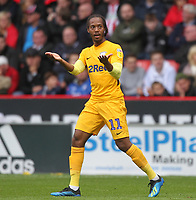 Preston North End's Daniel Johnson celebrates scoring his sides second goal <br /> <br /> Photographer Mick Walker/CameraSport<br /> <br /> The EFL Sky Bet Championship - Sheffield United v Preston North End - Saturday 22 September 2018 - Bramall Lane - Sheffield<br /> <br /> World Copyright &copy; 2018 CameraSport. All rights reserved. 43 Linden Ave. Countesthorpe. Leicester. England. LE8 5PG - Tel: +44 (0) 116 277 4147 - admin@camerasport.com - www.camerasport.com