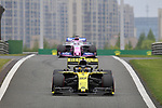 14.04.2019, Shanghai Audi International Circuit, Shanghai, 2019 FORMULA 1 HEINEKEN CHINESE GRAND PRIX<br /> im Bild<br />Nico H&uuml;lkenberg (GER#27), Renault F1 Team, Sergio Perez (MEX#11), Sportpesa Racing Point F1 Team<br /> <br /><br /> <br /> Foto &copy; nordphoto / Bratic