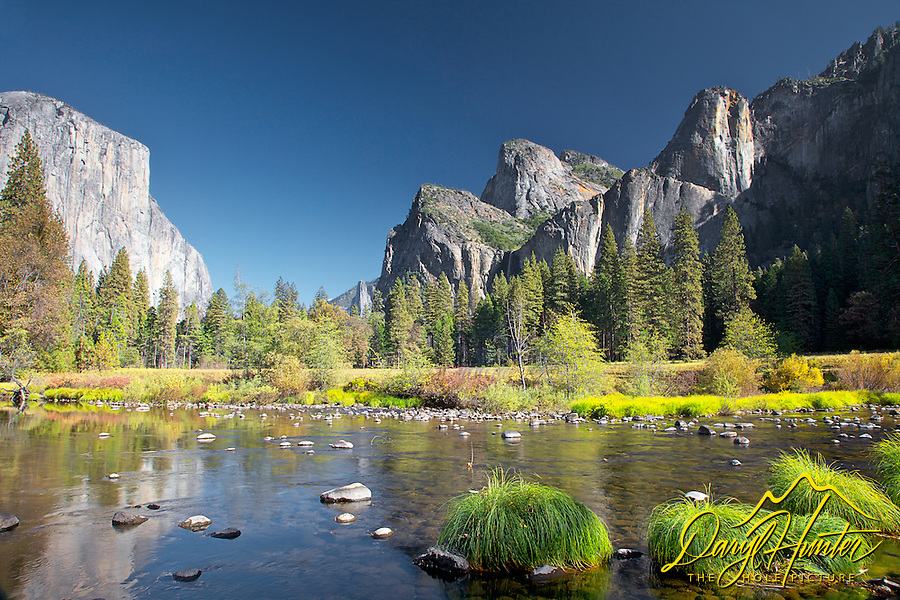 Yosemite Valley, Merced River, El Capitan, Yosemite National Park