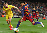 23.04.2016 Barcelona. Liga BBVA day 35. Picture show Neymar in action during game between FC Barcelona against Real Sporting at Camp nou