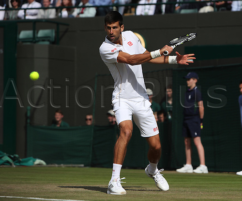 02.07.2016. All England Lawn Tennis and Croquet Club, London, England. The Wimbledon Tennis Championships Day Six. Number 1 seed, Novak Djokovic (SRB) loses his match in four sets to Sam Querry (USA).