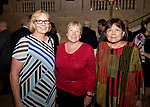 WATERBURY, CT-053118JS08--  Paula DeZinno of Middlebury, Susan Suhr of Woodbury and Marina Viale of Woodbury,  at STAGES, the Palace Theater's 12th Annual Wine Dinner held at the Palace Theater in Waterbury. The event  benefits the Palace Theater Annual Campaign.  <br /> Jim Shannon Republican American