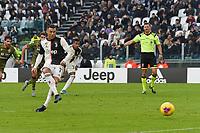 Cristiano Ronaldo of Juventus scores a goal on penalty <br /> Torino 6-1-2020 Juventus Stadium <br /> Football Serie A 2019/2020 <br /> Juventus FC - Cagliari Calcio <br /> Photo Giuliano Marchisciano / Insidefoto