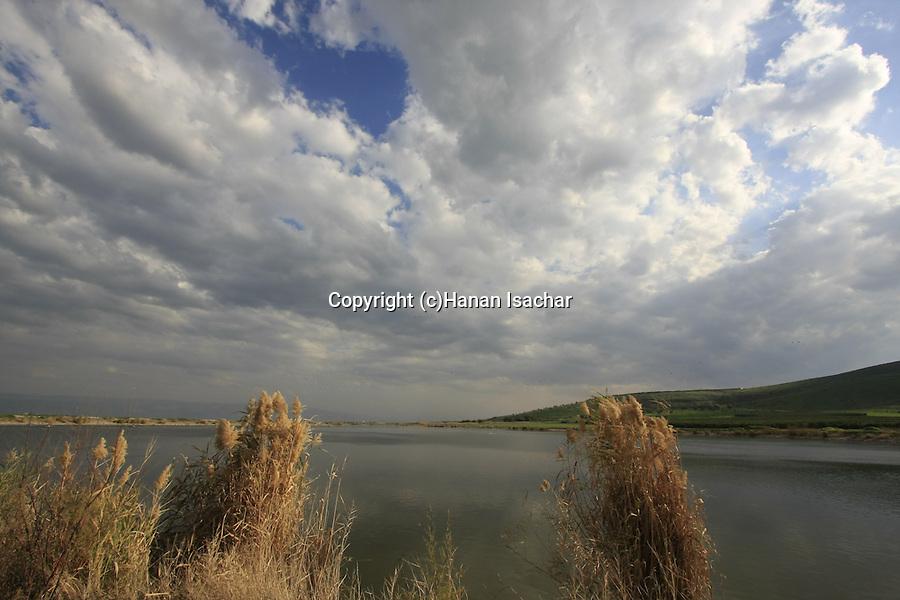 Israel, Beth Shean valley. Fish farm near Kibbutz Reshafim
