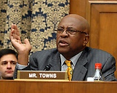 "Washington, D.C. - January 15, 2008 -- United States Representative Edolphus Towns (Democrat of the 10th District of New York) questions the witnesses during the United States House Committee on Oversight and Government Reform hearing on ""The Mitchell Report: The Illegal Use of Steroids in Major League Baseball."" on Tuesday, January 15, 2008..Credit: Ron Sachs / CNP.[RESTRICTION: No New York Metro or other Newspapers within a 75 mile radius of New York City]"