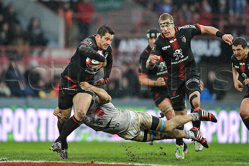28.02.2016. Toulouse, Frace. Top14 rugby union league, Toulouse versus Montpellier.  Florian Fritz (st)
