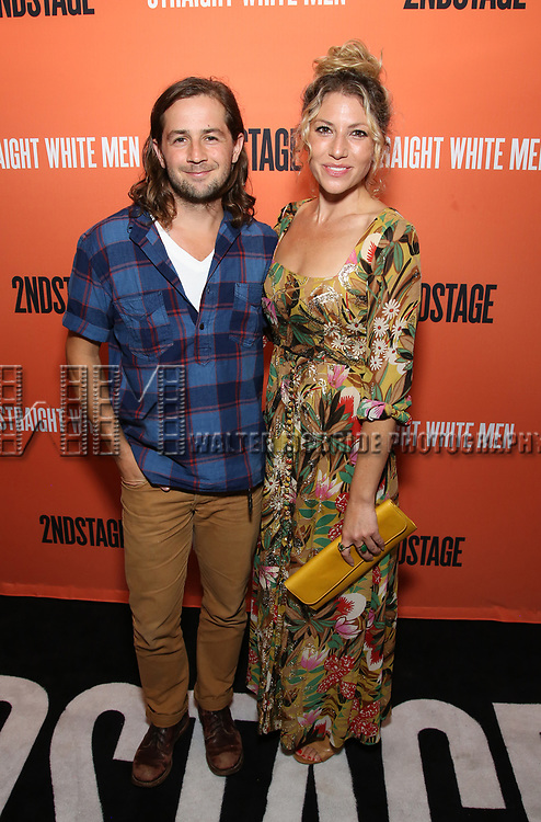 Michael Angarano and Ari Graynor attends the Opening Night Performance of 'Straight White Men' at the Hayes Theatre on July 23, 2018 in New York City.