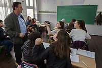 Serbia. Veliki Trnovac (in Albanian: Tërnoc i Madh) is a town in the municipality of Bujanovac, located in the Pčinja District of southern Serbia. « Muharrem Kadriu » Elementary School. The school's students are all from Albanian ethnicity. Classroom. 8th Grade. History class. A teacher and his pupils. Bujanovac is located in the geographical area known as Preševo Valley. The Pestalozzi Children's Foundation (Stiftung Kinderdorf Pestalozzi) is advocating access to high quality education for underprivileged children. It supports in Bujanovac a project called » Our towns, our schools ». 16.4.2018 © 2018 Didier Ruef for the Pestalozzi Children's Foundation