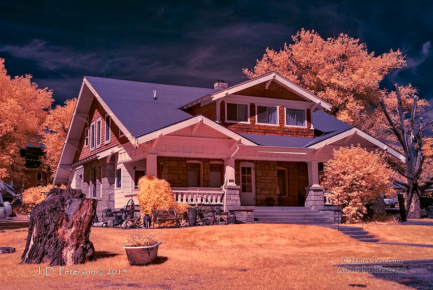 House with Bathtub, Monticello, Utah (Infrared)