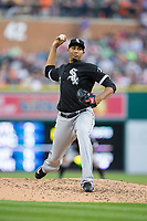 Chicago White Sox relief pitcher Michael Ynoa (66) in action against the Detroit Tigers at Comerica Park on June 2, 2017 in Detroit, Michigan.  The Tigers defeated the White Sox 15-5.  (Brian Westerholt/Four Seam Images)