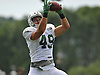 Jason Vander Laan #49 of the New York Jets makes a catch during team training camp at Atlantic Health Jets Training Center in Florham Park, NJ on Friday, Aug. 5, 2016