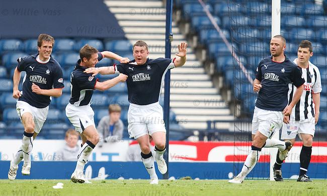 Tam Scobbie celebrates his goal for Falkirk