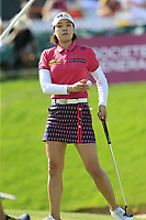 In Gee Chun (KOR) putts on the 18th green during Thursday's Round 1 of The Evian Championship 2018, held at the Evian Resort Golf Club, Evian-les-Bains, France. 13th September 2018.<br /> Picture: Eoin Clarke | Golffile<br /> <br /> <br /> All photos usage must carry mandatory copyright credit (&copy; Golffile | Eoin Clarke)