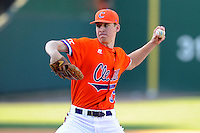 Pitcher Zack Erwin (33) of the Clemson Tigers in the Reedy River Rivalry game against the South Carolina Gamecocks on March 1, 2014, at Fluor Field at the West End in Greenville, South Carolina. South Carolina won, 10-2.  (Tom Priddy/Four Seam Images)