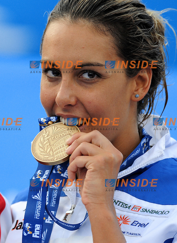 Roma 1st August 2009 - 13th Fina World Championships From 17th to 2nd August 2009....Swimming finals..Women's 800m freestyle..Alessia Filippi (ITA) bronze medal....photo: Roma2009.com/InsideFoto/SeaSee.com