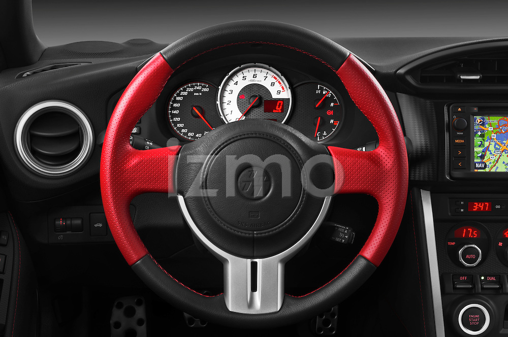 Steering wheel view of a 2013 Toyota GT86 Sport Coupe