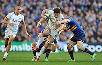Francois Louw of Bath Rugby takes on the Leinster defence. European Rugby Champions Cup quarter final, between Leinster Rugby and Bath Rugby on April 4, 2015 at the Aviva Stadium in Dublin, Republic of Ireland. Photo by: Patrick Khachfe / Onside Images