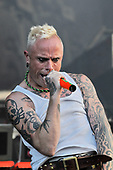 The Prodigy - vocalist Keith Flint performing live as the Headline Act on Day Two on the Second Stage at the 2009 Download Festival, Donington Park, Leicestershire, UK - 13 Jun 2009.  Photo by: George Chin/IconicPix
