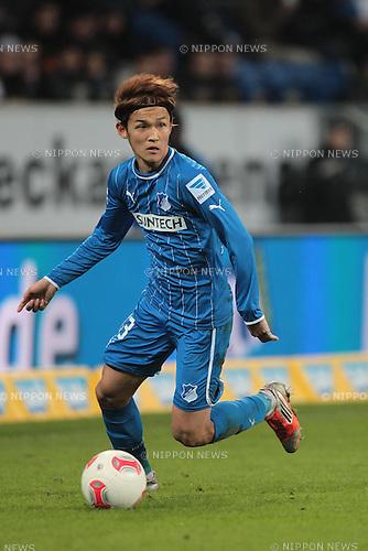 Takashi Usami (Hoffenheim),.FEBRUARY 17, 2013 - Football / Soccer :.Bundesliga match between TSG 1899 Hoffenheim 0-1 VfB Stuttgart at Rhein-Neckar-Arena in Sinsheim, Germany. (Photo by AFLO)