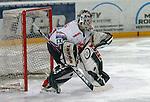 Eishockey, DEL, Deutsche Eishockey Liga 2003/2004 , 1.Bundesliga, Arena Nuernberg (Germany) Nuernberg Ice Tigers - Adler Mannheim (2:1 n.p.) Torwart Alfie Michaud (IceTigers)