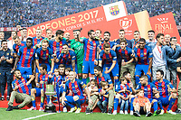 FC Barcelona's celebrates the championship during Copa del Rey (King's Cup) Final between Deportivo Alaves and FC Barcelona at Vicente Calderon Stadium in Madrid, May 27, 2017. Spain.<br /> (ALTERPHOTOS/BorjaB.Hojas) /NortePhoto.com