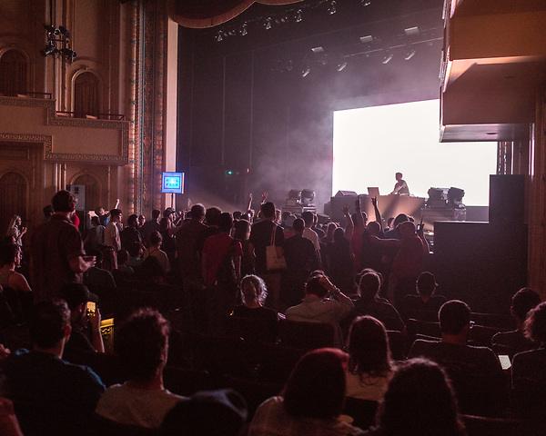 May 18, 2018. Durham, North Carolina.<br /> <br /> Jon Hopkins plays in Fletcher Hall at the Carolina Theatre. <br /> <br /> Moogfest 2018 showcases 4 days of music, art and technology spread out amongst venues in and around downtown Durham.