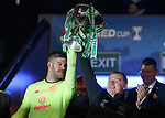 08.11.2019 League Cup Final, Rangers v Celtic: Fraser Forster and Neil Lennon
