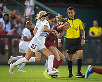 STANFORD, CA - August 30, 2019: Bianca Caetano-Ferrara at Maloney Field at Laird Q. Cagan Stadium. The Cardinal defeated the University of Pennsylvania Quakers 5-1.