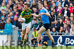 Donnchadh Walsh Kerry in action against Brian Fenton Dublin at the National League Final in Croke Park on Sunday.