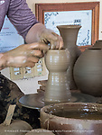 Master potter in Santander pottery factory, Trinidad - grandson of founder