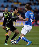 Criscito vies with Pedro during the FIFA friendly football match Spain vs Italy on March 5, 2014 on the eve of their World Cup 2014 at the Vicente Calderon stadium in Madrid.  PHOTOCALL3000 / DP