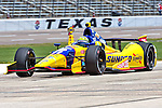 Tony Kanaan (11) driver for KV Racing Technology in action during qualifying for the IZOD Indycar Firestone 550 race at Texas Motor Speedway in Fort Worth,Texas.