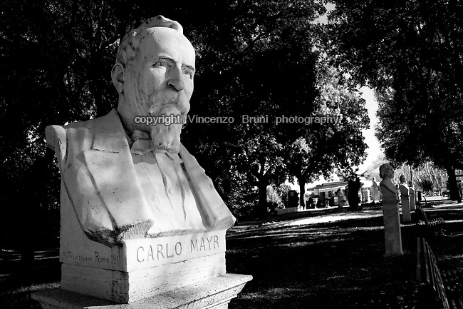 Marble torso at the Gianicolo hill in Rome