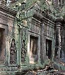 Ta Prohm Temple 03 - Devata carvings on the walls of Ta Prohm Temple, Angkor, Cambodia