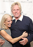 Catherine Russell and Gary Busey attend a photo call for Gary Busey's stage debut in 'Perfect Crime'  at The Theater Center on November 10, 2016 in New York City.