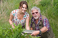 PICTURE BY ALEX BROADWAY/SWPIX.COM...Buglife - Get Britain Buzzing Launch - Canvey Wick Site of Special Scientific Interest...Bill Oddie & Sarah x from The Buglife Charity.