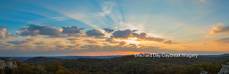63895-14304 Sunset at Garden of the Gods Recreation Area, Shawnee National Forest, IL