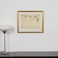 "Rodin: ""Reclining Female Nude"", Digital Print, Image Dims. 11.5"" x 15"", Framed Dims. 17.5"" x 20.75"""