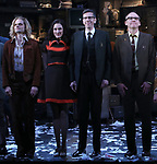 "Andrew Durand,  Erin Neufer, Robert Stanton and David Wilson Barnes during the Broadway Opening Night Curtain Call for ""Ink"" at the Samuel J. Friedman Theatre on April 24, 2019  in New York City."
