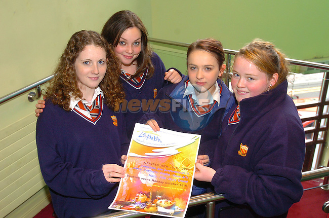 Charline lawlor, Grace McEwen, Susan Quinn and Katie Curran at the launch of LeAnbh Drogheda Arts festival for Children in the Droichead Arts centre.Photo Fran Caffrey Newsfile.ie..This Picture has been sent to you by Newsfile Ltd..The Studio,.Millmount Abbey,.Drogheda,.Co. Meath,.Ireland..Tel: +353(0)41-9871240.Fax: +353(0)41-9871260.ISDN: +353(0)41-9871010.www.newsfile.ie..general email: pictures@newsfile.ie