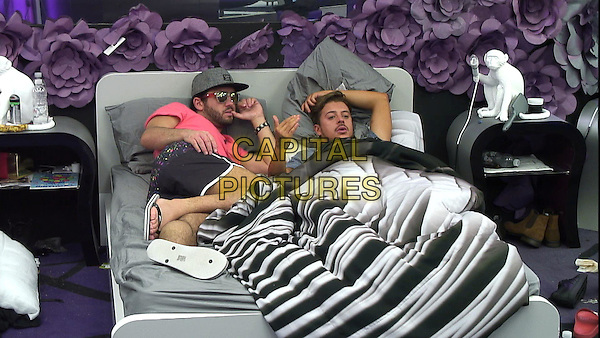 Celebrity Big Brother, Summer 2016, Day 30<br /> Ryan and Hughie.<br /> *Editorial Use Only*<br /> CAP/KFS<br /> Image supplied by Capital Pictures